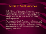 music of south america