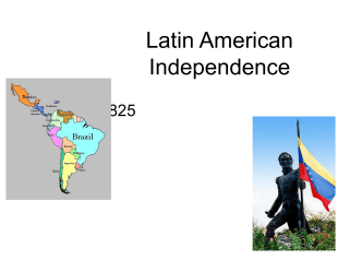 Latin American Revolutions slides