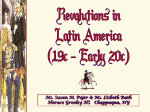 Revolutions in Latin America: 19c