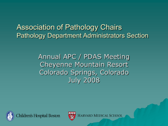 Histology Staffing - Association of Pathology Chairs
