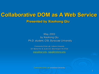 Collaborative DOM as a Web Service by
