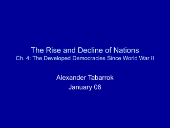 The Rise and Decline of Nations Ch . 4 : The Developed