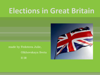 Elections in Great Britain