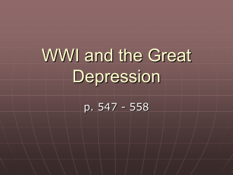 WWI and the Great Depression - Eagle Mountain