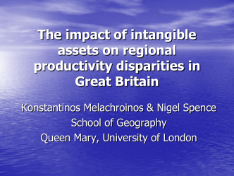 Intangible investment and regional productivity in Great Britain