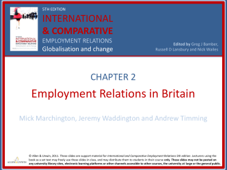 INDUSTRIAL RELATIONS IN BRITAIN
