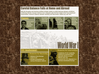PowerPoint Presentation - The Great War: World War I The