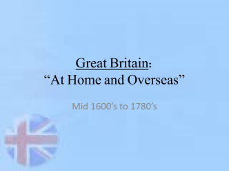 "Great Britain: ""At Home and Overseas"""