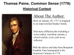 Thomas Paine, Common Sense