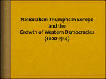 Nationalism Triumphs in Europe and the Growth of Western