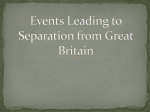 Events Leading to Separation from Great Britain