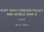 20 Foreign Policy Isolation to World War 2