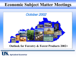 Economic Subject Matter Meetings