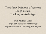 The Mater Dolorosa of Ancient Rough Cilicia: Tracking an Archetype