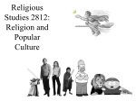 PowerPoint Presentation - Religion and Popular Culture
