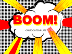Boom - Cartoon pop art template