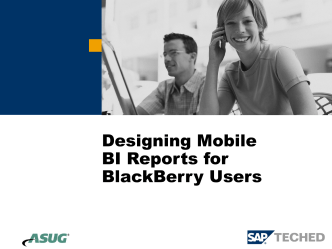 Building Optimized SAP BI Reports for BlackBerry Devices