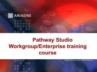 training material for the Pathway Studio Enterprise edition
