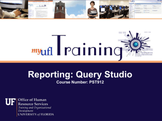 PST912: Reporting: Query Studio