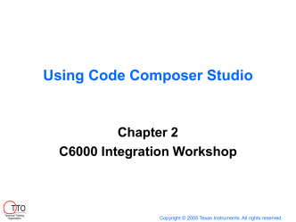 Using Code Composer Studio