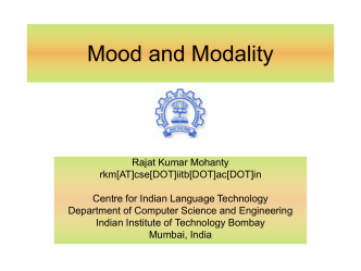 Lecture slides - Department of Computer Science and Engineering
