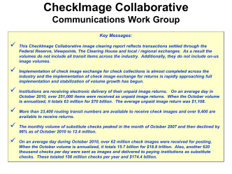 Data Sources - CheckImage Central
