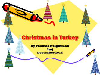 Christmas in Turkey - Cullercoats Primary School