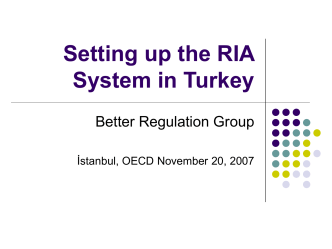 Setting up the RIA System in Turkey