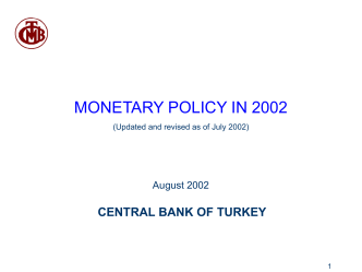 CENTRAL BANK OF THE REPUBLIC OF TURKEY