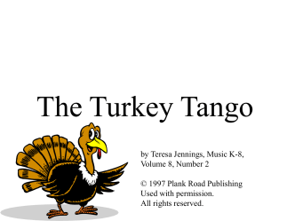 The Turkey Tango - Bulletin Boards for the Music Classroom