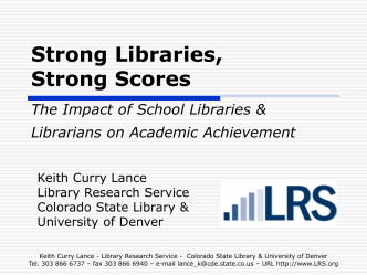 Proof of the Power Research on the Impact of School Librarians and
