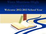 Vista Murrieta High School Library