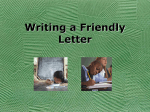 Writing a Friendly Letter