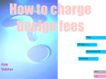 How to charge Design fees