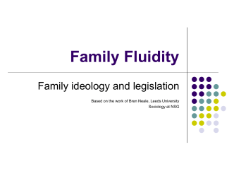 Family Fluidity - Philadelphia University
