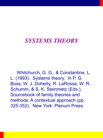 Family Systems Theory from Sourcebook