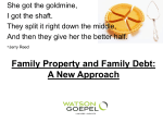 The new Family Law Act – Division of Assets and Debt