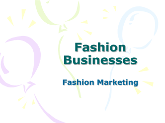 Fashion Businesses