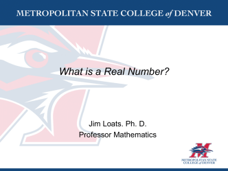 What is real number?