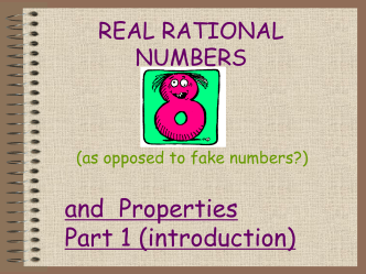 Rational Numbers and Properties