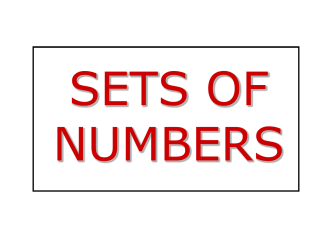 Set of Numbers Powerpoint