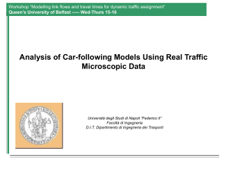Calibration of car-following models