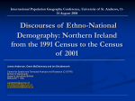 Demographic Fear in Northern Ireland Politics, Society and Space