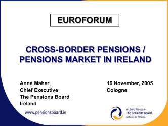 Pensions in Ireland 16 November 05 ( 123.9 KB)