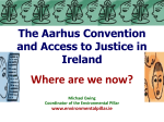 The Aarhus Convention and Access to Justice in Ireland