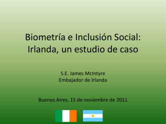 Ireland - Biometría