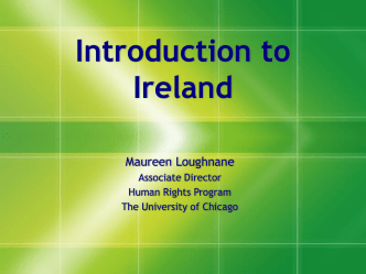 Introduction to Ireland (Powerpoint Slides)