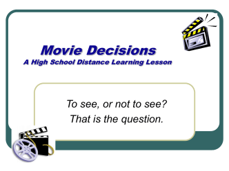 Movie Decisions - Hood River County School District