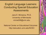 English Language Learners: How to Conduct an Assessment