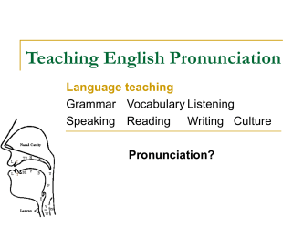 Teaching English Pronunciation